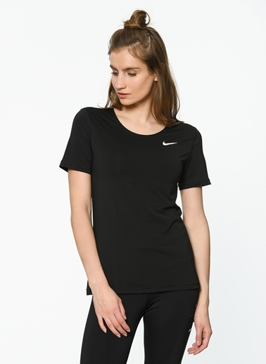 Nike Bisiklet Yaka Tişört Siyah